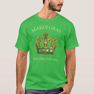 Camiseta A coroa do carnaval adiciona o ano