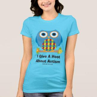 Camiseta A coruja bonito dá uma buzina sobre o autismo