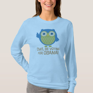 Camiseta A coruja esteja votando para Obama