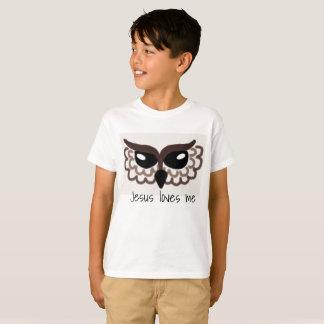 Camiseta A coruja, Jesus ama-me