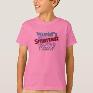 Camiseta A criança a mais esperta do mundo