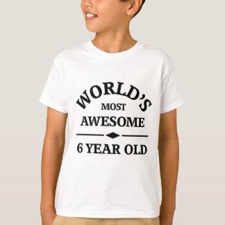 Camiseta A criança de 6 anos a mais surpreendente do mundo