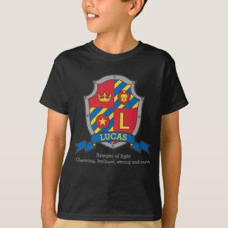 Camiseta A crista conhecida do significado de Lucas knights