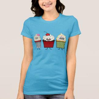Camiseta A crosta de gelo da família do cupcake polvilha o