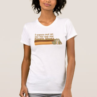 Camiseta A dança calça o t-shirt do vintage do disco
