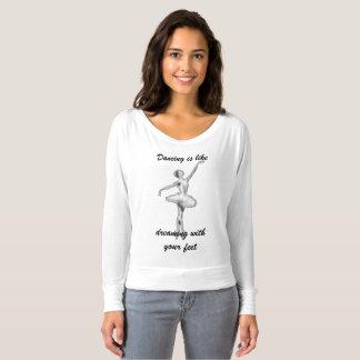 Camiseta A dança é como ..... o tshirt