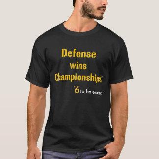 Camiseta A defesa ganha os campeonatos 6 (a parte dianteira