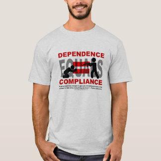 Camiseta A dependência iguala a conformidade
