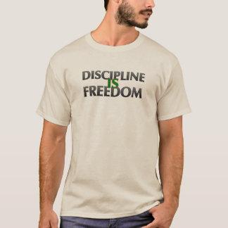 Camiseta A disciplina é t-shirt da liberdade