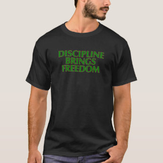 Camiseta A disciplina traz o t-shirt da liberdade