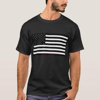 "Camiseta a ""dissidência é"" bandeira patriótica do smiley"