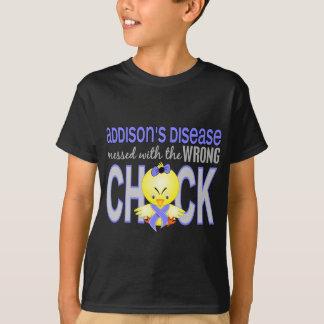 Camiseta A doença de Addison sujada com pintinho errado