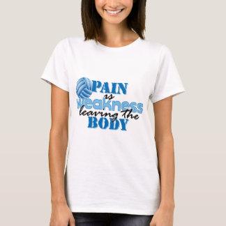 Camiseta A dor é fraqueza que sae do corpo - voleibol