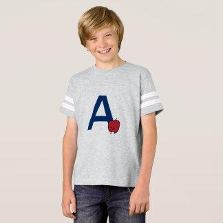 Camiseta A é para a aprendizagem da letra do ABC do