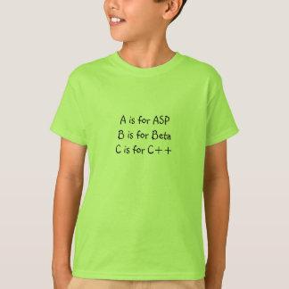 Camiseta A é para o ASP