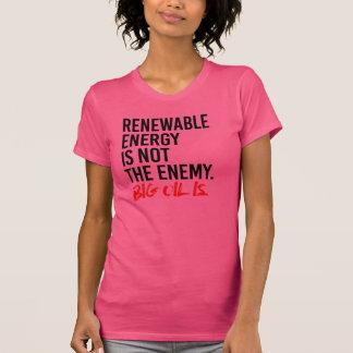 Camiseta A ENERGIA RENOVÁVEL NÃO É o INIMIGO - -