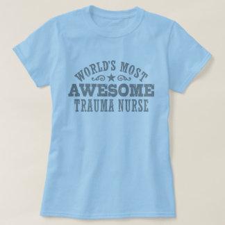 Camiseta A enfermeira a mais impressionante do traumatismo
