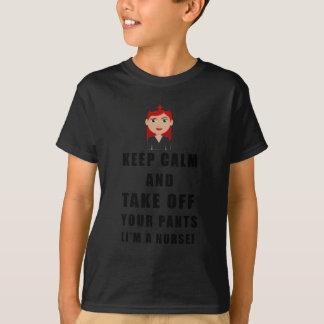 Camiseta a enfermeira, descola suas calças