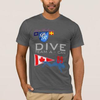 Camiseta A equipe do mergulho um mergulho PODE bandeira