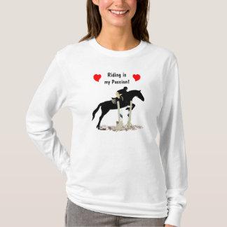 Camiseta A equitação é meu cavalo do Equestrian da paixão