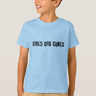 Camiseta A escavação das meninas ondula o homem ou o menino
