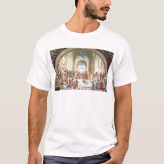 Camiseta A escola de Raphael de Atenas (Plato e Aristotle)