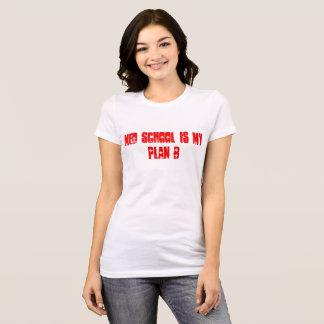 Camiseta A escola do MED da mulher É meu t-shirt do plano B