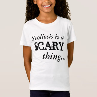 """Camiseta A """"escoliose é"""" t-shirt assustador"""