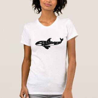 Camiseta a escravidão T branco das mulheres