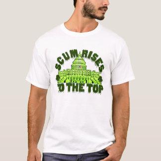 Camiseta A escumalha aumenta ao t-shirt superior