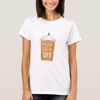 Camiseta A especiaria da abóbora é t-shirt do gráfico da