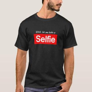Camiseta A espera, deixou-me tomar um #selfie