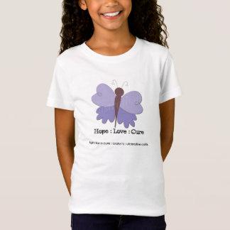 Camiseta A esperança do Crohn das meninas: Amor: T da