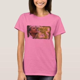 Camiseta A esperança por muito tempo Sleeved das senhoras