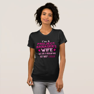 Camiseta A esposa do gestor de projecto