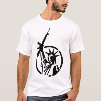 Camiseta A estátua da liberdade que guardara um AR-15