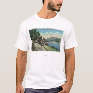 Camiseta A estrada e os túneis Railway aproximam Bonneville