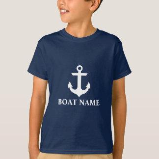 Camiseta A estrela náutica da âncora do nome do barco caçoa