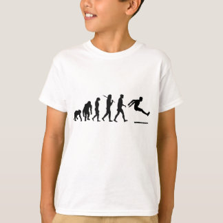 Camiseta A evolução de salto longa da ligação em ponte