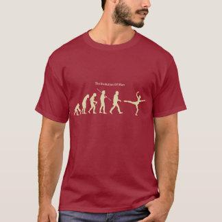 Camiseta A evolução do t-shirt do homem (dança)