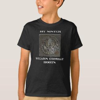Camiseta a exército-chapa, MINHA IRMÃ, VESTE BOTAS de
