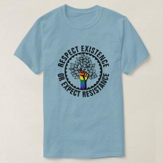 Camiseta A existência do respeito de LGBT ou espera a