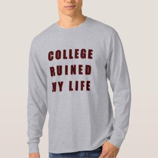 Camiseta A faculdade arruinou minha vida