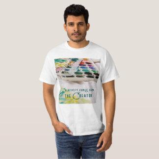 Camiseta A faculdade criadora vem do criador