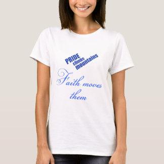 Camiseta A fé move o t-shirt do cristão das montanhas