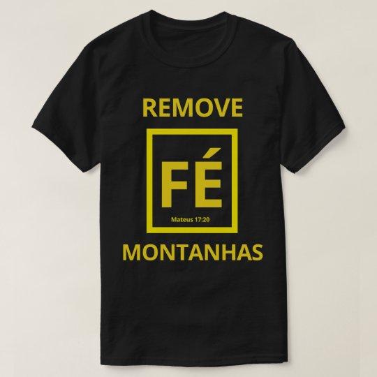 Camiseta A Fé remove Montanhas