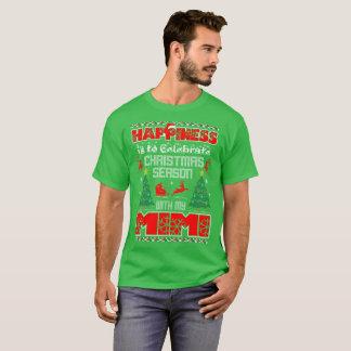 Camiseta A felicidade é comemora o Natal com Mimi o feio