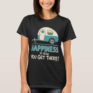 Camiseta A felicidade é como você obtem lá