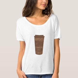 Camiseta A felicidade é um copo do t-shirt do café da