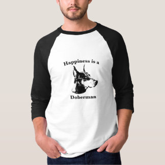 Camiseta A felicidade é um Doberman